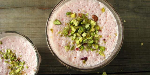 Gluten-Free Red Currant and Rose Lassi Recipe