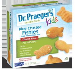 Dr praeger 39 s sensible foods now offering a line of gluten for Dr praeger s fish sticks
