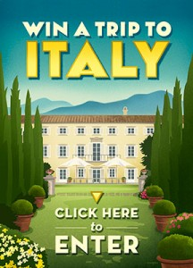 Win a Trip to Italy (Fall of 2015) Enter through June 30th. Don't miss out.