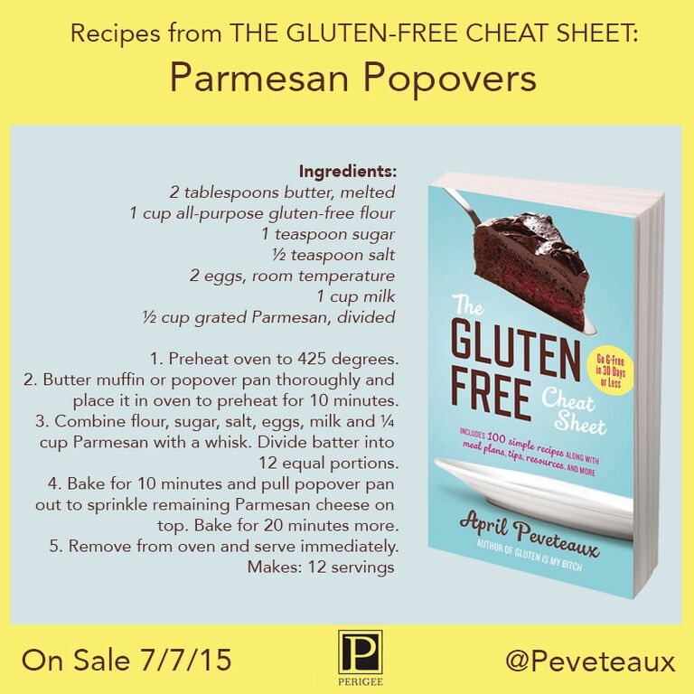 Guten Free Cheat Sheet recipe